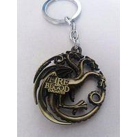 Llavero Juego De Tronos Casa Targaryen Aleacion