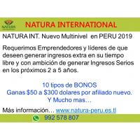 NATURA INT. Nuevo Multinivel  en PERU 2019