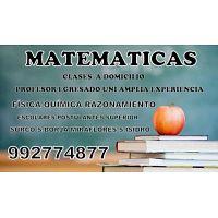 CLASES PARTICULARES DE MATEMÁTICAS Y CIENCIAS