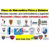 Profesor de Matemáticas, Física y Química a t/nivel 953 546 752