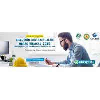 CURSO ESPECIALIZADO EJECUCIÓN CONTRACTUAL DE OBRAS PÚBLICAS 2019 (NUEVO)