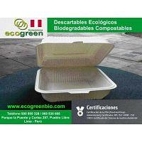 Envases descartables Lima Perú delivery de alimentos envases biodegradables Lima Perú ECOGREENBIO