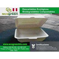 Envases descartables biodegradables Lima Perú para delivery de alimentos envases Lima ECOGREENBIO