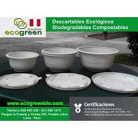 Envases descartables Lima Perú ECOGREENBIO biodegradables para delivery de alimentos envases Lima
