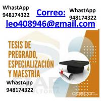 Elaboracion de tesis de grado, WhastApp 948174322