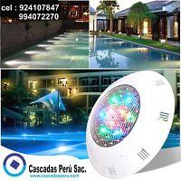 Luces LED Sumergibles, para piscinas, fuentes, etc