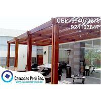 techos sol y sombra de madera, aluminio, policarbonato para terrazas, cocheras