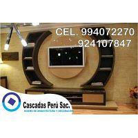 muebles de tv con luces LED, muebles de tv minimalista