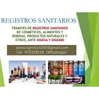 TRAMITES DE REGISTROS SANITARIOS - Cel 970328518