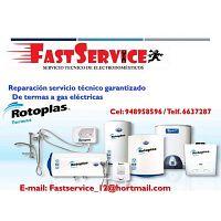 Reparación servicio técnico mantenimiento de termas ROTOPLAS 948958596