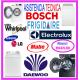 Mantenimiento de lavadoras Bosch y reparaciones